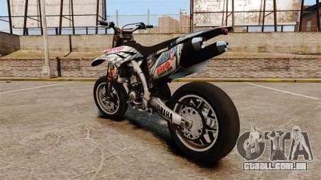 Yamaha YZF-450 v1.10 para GTA 4 traseira esquerda vista