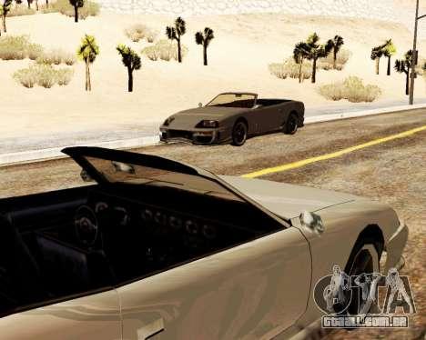 O Bobo Conversível para GTA San Andreas vista interior