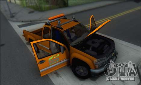 Chevrolet Colorado Cleaning para GTA San Andreas vista inferior