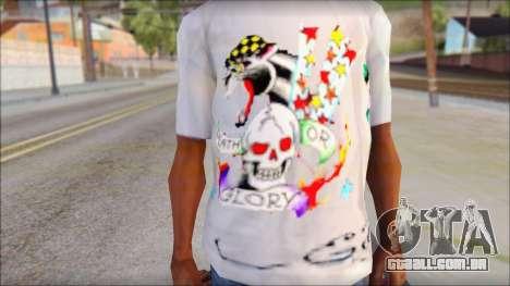 Ed Hardy T-Shirt para GTA San Andreas terceira tela
