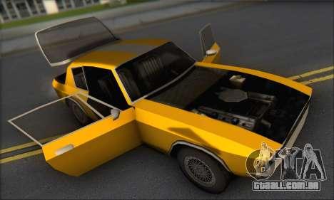 Jensen Intercepter 1971 Fast And Furious 6 para GTA San Andreas vista traseira