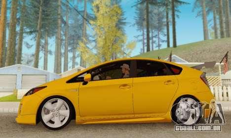 Toyota Prius Tunable para GTA San Andreas vista interior