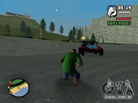 O golpe de estado para GTA San Andreas segunda tela
