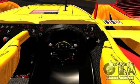 Porsche RS Spyder Evo 2008 para GTA San Andreas vista interior