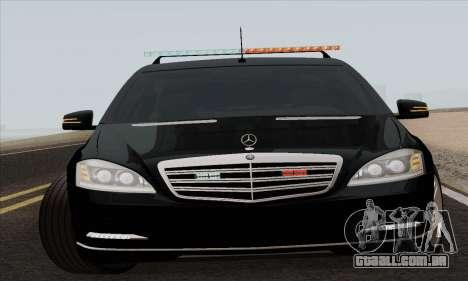 Mercedes-Benz S600 W221 2012 para GTA San Andreas esquerda vista