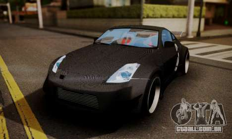 Nissan 350z Angel Beast Itasha Edition para GTA San Andreas vista inferior