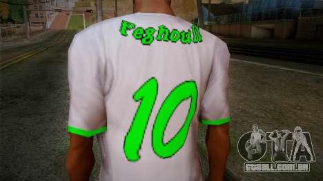 Algerian Football T-Shirt para GTA San Andreas terceira tela