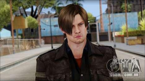 Leon Kennedy from Resident Evil 6 v3 para GTA San Andreas terceira tela