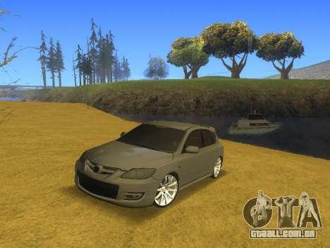 Mazda 3 v2 para GTA San Andreas vista traseira
