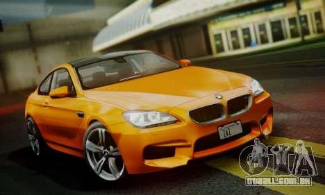 BMW M6 F13 2013 para vista lateral GTA San Andreas
