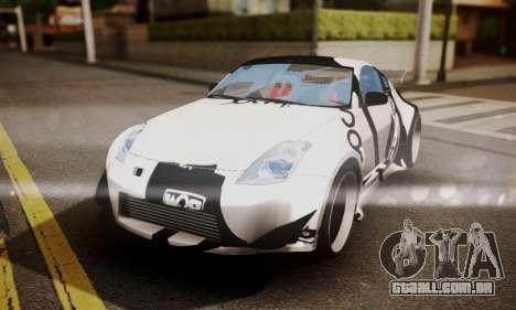 Nissan 350z Angel Beast Itasha Edition para GTA San Andreas vista superior