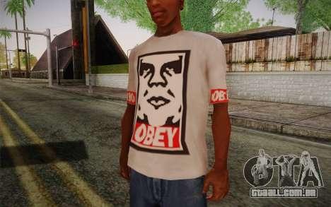 Obey Shirt para GTA San Andreas