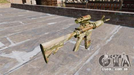 Automático carabina MA Verde de cana-de-Camo para GTA 4 segundo screenshot