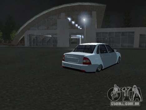 Ваз 2170 Pnevmogorsk para GTA San Andreas traseira esquerda vista
