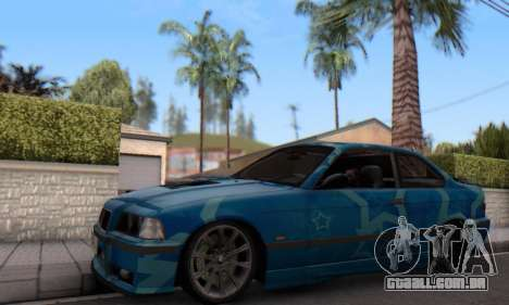 BMW M3 E36 Coupe Blue Star para GTA San Andreas esquerda vista