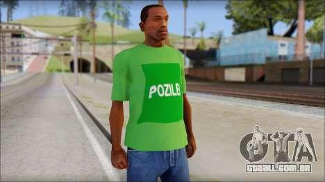 Pozilei T-Shirt para GTA San Andreas