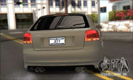 Audi S3 2006 Custom para GTA San Andreas esquerda vista