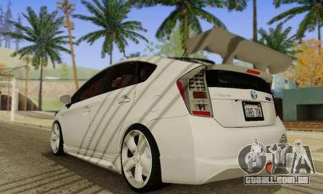 Toyota Prius Tunable para GTA San Andreas vista direita