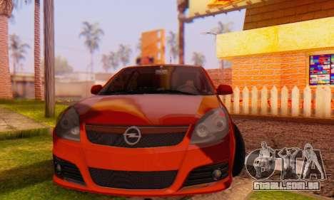 Opel Vectra C para GTA San Andreas vista traseira