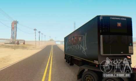 Trailer Chereau Morton Banda De 2014 para GTA San Andreas vista traseira