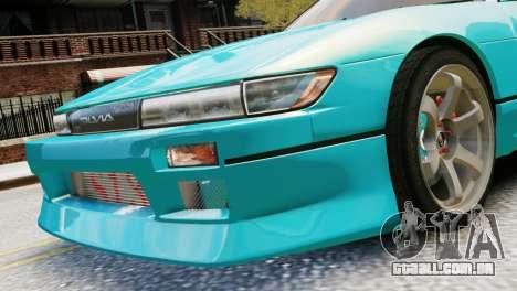 Nissan Silvia S13 v1.0 para GTA 4 traseira esquerda vista