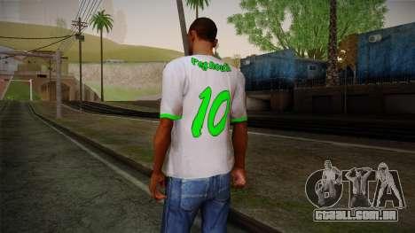 Algerian Football T-Shirt para GTA San Andreas segunda tela