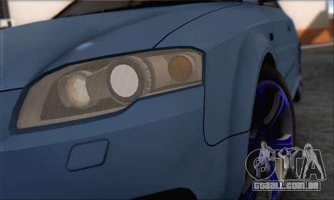 Audi S4 4.0 Quattro 2006 para GTA San Andreas vista traseira