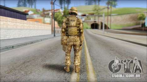 Desert GRU from Soldier Front 2 para GTA San Andreas segunda tela