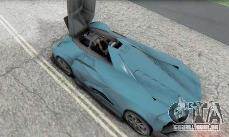 Lamborghini Egoista Concept 2013 para GTA San Andreas vista interior