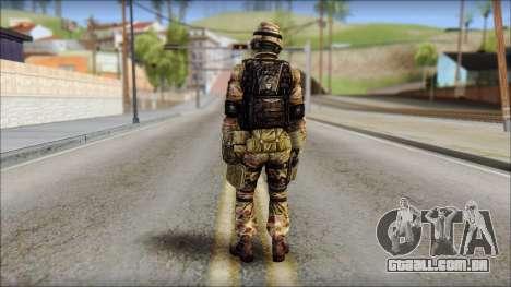 Forest GRU from Soldier Front 2 para GTA San Andreas segunda tela