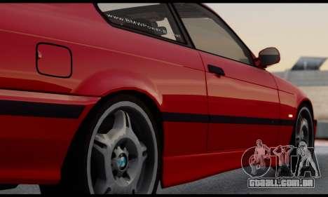 BMW M3 E36 1994 para GTA San Andreas vista interior