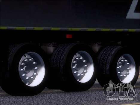 Trailer Chereau Coca-Cola Zero Caminhão para vista lateral GTA San Andreas