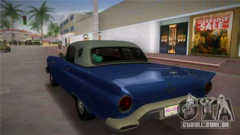 Ford Thunderbird para GTA Vice City deixou vista