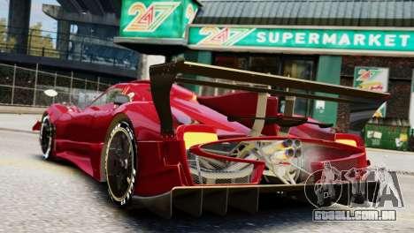 Pagani Zonda Autosport para GTA 4 esquerda vista