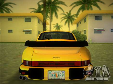 Porsche 911 Turbo 3.3 Coupe US-spec (930) 1978 para GTA Vice City vista traseira esquerda