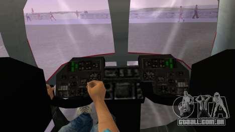 Mi-34 para GTA Vice City vista traseira esquerda
