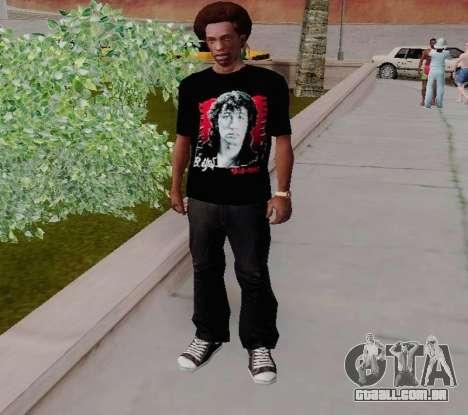 T-shirt c Viktor Tsoi para GTA San Andreas segunda tela