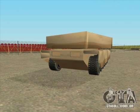 Dozuda.s Primary Tank (Rhino Export tp.) para GTA San Andreas esquerda vista