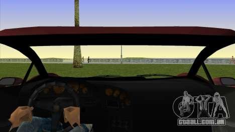 Zentorno from GTA 5 para GTA Vice City vista traseira esquerda