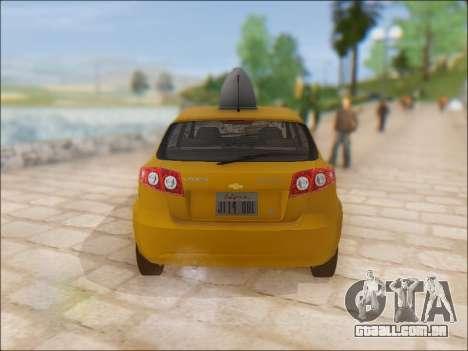 Chevrolet Lacetti Taxi para GTA San Andreas vista direita