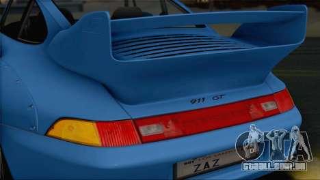 Porsche 911 GT2 (993) 1995 V1.0 SA Plate para GTA San Andreas vista superior