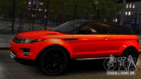 Land Rover Range Rover Evoque para GTA 4