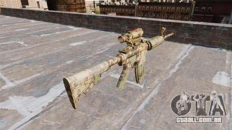 Automático de carabina, MAS Guerrilha Camo para GTA 4 segundo screenshot