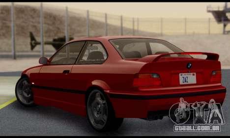 BMW M3 E36 1994 para GTA San Andreas vista direita