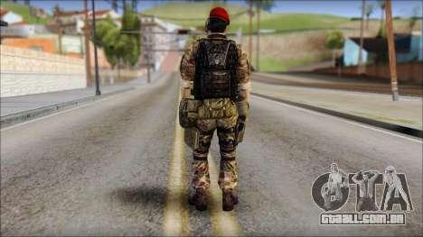 Forest GRU Vlad from Soldier Front 2 para GTA San Andreas segunda tela