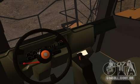 Caterpillar 797 para GTA San Andreas vista traseira
