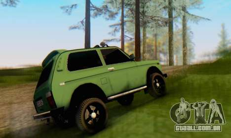 VAZ 21213 para GTA San Andreas traseira esquerda vista