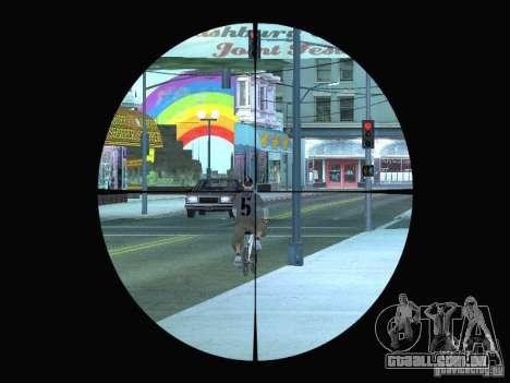 Sniper mod: Realism para GTA San Andreas segunda tela