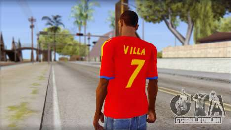 Spanish Football Shirt para GTA San Andreas segunda tela