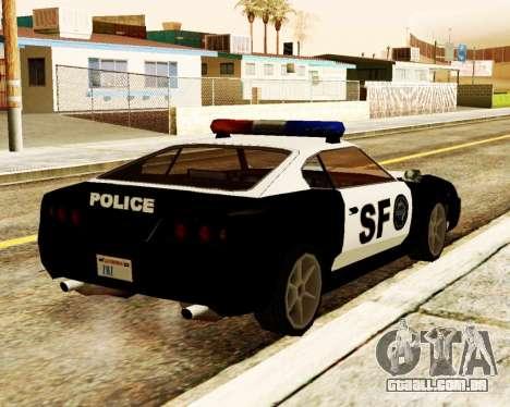 Jester Police SF para GTA San Andreas traseira esquerda vista